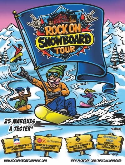 Rock on snowboard tour 2016